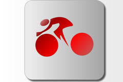 Segno di simbolo della bicicletta Fotografia Stock