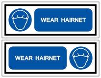 Segno di simbolo della retina per capelli di usura, illustrazione di vettore, isolato sull'etichetta bianca del fondo EPS10 illustrazione vettoriale