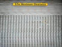 3 segno di spazio di massimo di 7m Immagini Stock