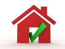 Segno di spunta di verde della bacchetta di Real Estate Fotografie Stock