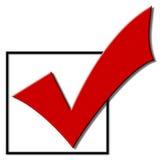 Segno di spunta di voto Fotografia Stock