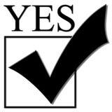 Segno di spunta di voto Fotografie Stock Libere da Diritti