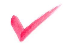 Segno di spunta rosso Fotografia Stock Libera da Diritti