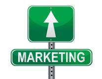 Segno di strategia di marketing Immagini Stock