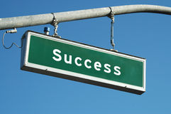 Segno di successo Immagine Stock