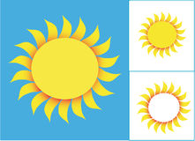 Segno di Sun Immagine Stock