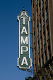 Segno di Tampa Fotografie Stock