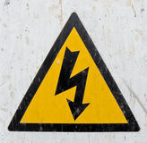 Segno di tensione del hight del pericolo immagine stock