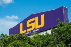 Segno di Tiger Stadium a LSU Fotografia Stock Libera da Diritti