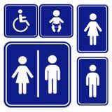 Segno di toilette dell'illustrazione di vettore Immagine Stock Libera da Diritti