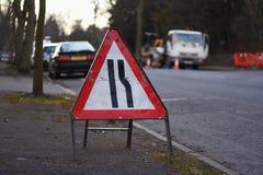 Segno di traffico stradale Immagini Stock Libere da Diritti
