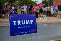 Segno di Trump a Rallu Fotografia Stock