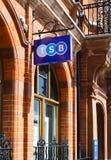 Segno di TSB, cassa di risparmio dell'amministratore Immagine Stock Libera da Diritti