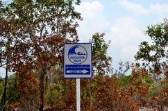 Segno di Tsunami Fotografia Stock Libera da Diritti