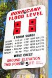 Segno di uragano di Wrightsville fotografia stock