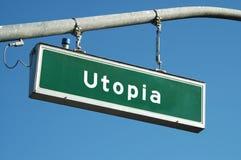 Segno di Utopia Immagini Stock Libere da Diritti