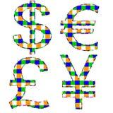 segno di valuta con fondo bianco Fotografia Stock Libera da Diritti