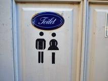 Segno di vecchio stile della toilette del WC Fotografie Stock Libere da Diritti