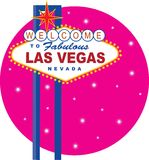 Segno di Vegas Fotografia Stock Libera da Diritti