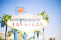 Segno di Vegas Fotografie Stock Libere da Diritti