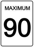 Segno di velocità di Maximun Immagini Stock