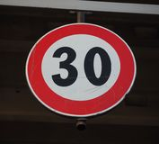 Segno di velocità massima Fotografia Stock