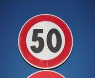 Segno di velocità massima Fotografie Stock Libere da Diritti