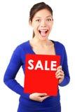 Segno di vendita Fotografie Stock