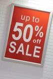 Segno di vendita Fotografia Stock