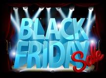 Segno di vendita della fase di Black Friday Fotografie Stock Libere da Diritti