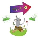 Segno di vendita della sorgente Immagine Stock