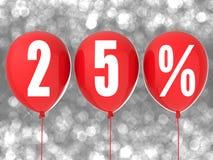 segno di vendita di 25% Fotografia Stock Libera da Diritti