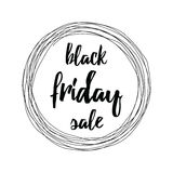 Segno di vendita di Black Friday Immagini Stock Libere da Diritti