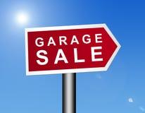 Segno di vendita di garage illustrazione di stock