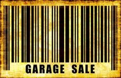 Segno di vendita di garage Fotografie Stock Libere da Diritti