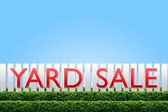 Segno di vendita di iarda Fotografie Stock Libere da Diritti
