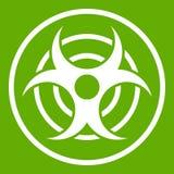 Segno di verde biologico dell'icona di minaccia royalty illustrazione gratis