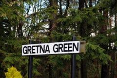 Segno di verde di Gretna Fotografia Stock