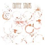 Segno di vetro del caffè isolato su fondo bianco Immagine Stock
