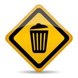 Segno di vettore del bidone della spazzatura Fotografia Stock Libera da Diritti