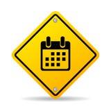 Segno di vettore di pianificazione di tempo illustrazione di stock