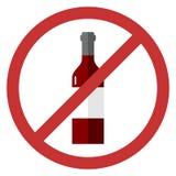 Segno di vettore nessun alcool Fotografie Stock