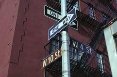Segno di via del Greenwich Village immagine stock