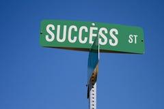 Segno di via di successo Fotografia Stock Libera da Diritti