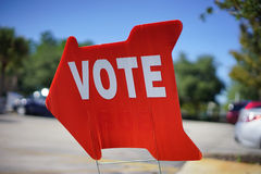 Segno di voto di elezione Immagini Stock Libere da Diritti