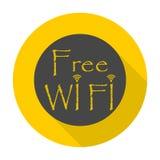 Segno di Wifi, simbolo di Wi-Fi, icona della rete wireless, icona di zona di Wifi Fotografie Stock