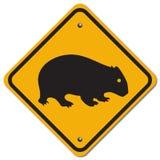 Segno di Wombat Fotografia Stock