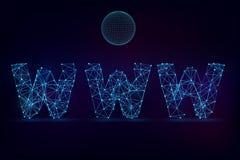 Segno di WWW Immagini Stock