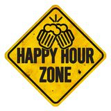 Segno di zona di happy hour illustrazione di stock