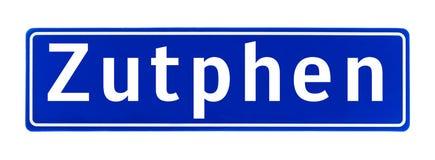 Segno di Zutphen, Paesi Bassi di limite di città fotografia stock libera da diritti